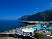open-air swimming pool, Habour, Los Gigantes Tenerife, Tenerife, Canary Islands, Spain