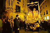 Procession during Holy Week, Semana Santa, Palma de Mallorca, Mallorca, Spain