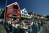 People dining in Skagen Restaurant, Stavanger, Rogaland, Norway