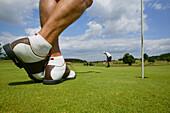 Elder men playing Golf, Bad Griesbach, Bavaria Germany