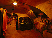 Wine Cellar, Badia a Coltibuono, Chianti, Tuscany, Italy
