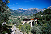 Historical railway from Palma to Soller, Sollér, Majorca, Spain