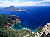 Sa Trapa hiking trail, Cala Basset, Isla Dragonera near Sant Telm, Majorca, Spain