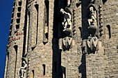 Detail der Basilika Sagrada Familia, Barcelona, Spanien, Europa