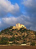 San Salvador, pilgrimage church within ancient city wall, fortress, Arta, Mallorca, Majorca, Balearic Islands, Spain
