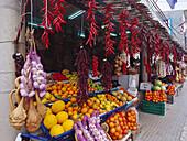 Fruits and vegetable stall, Vilafranca de Bonany, Majorca, Spain