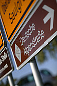 Direction signs, Steingaden, Bavaria, Germany