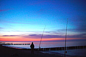 Fisherman at the baltic sea, Kuehlungsborn, Mecklenburg-Western Pomerania, Germany