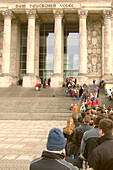Queuing infront of the Reichstag, Berlin, Germany