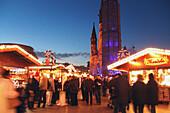 Christmas market on Breitscheidplat, Berlin, Germany