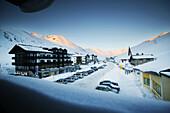 View from Pension Schoene Aussicht of Kuehtai, Blick aus der Pension Schoene Aussicht auf Kuehtai, Tyrol, Austria