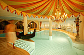 Indoor swimming pool of Central Spa Hotel, Soelden, Oetztal, Austria