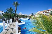 Open-air swimming pool, Hotel Santiago III, Playa de las Americas, Tenerife, Canary Islands, Spain