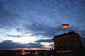 Reichstag in the evening , German Parliament, Berlin, Germany