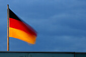 German flag on the Reichstag, Berlin, Germany