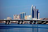 Al Maktoum bridge above Dubai Creek, Dubai, UAE, United Arab Emirates, Middle East, Asia