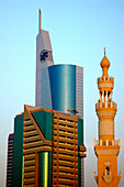 Mosque and Skyscrapers, Dubai, United Arab Emirates, UAE