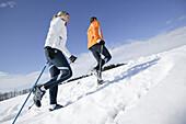 Young couple, Nordic Walking