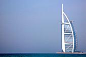 Burj al Arab hotel in the sunlight, Dubai, UAE, United Arab Emirates, Middle East, Asia
