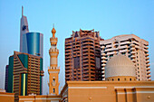 City view with mosque and skyscrapers, Dubai, United Arab Emirates, UAE
