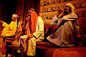 Arab figures at Dubai Museum, Dubai, UAE, United Arab Emirates, Middle East, Asia
