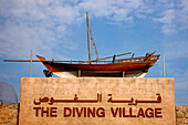 Old ship at a museum, The Diving Village, Dubai, UAE, United Arab Emirates, Middle East, Asia