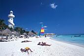 Strand, Playa del Carmen, Quintana Roo, Yucatan Mexiko