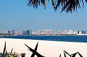 Deserted beach at Dubai Creek Park, Dubai, UAE, United Arab Emirates, Middle East, Asia