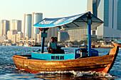 Abra boat on Dubai Creek, Dubai, UAE, United Arab Emirates, Middle East, Asia