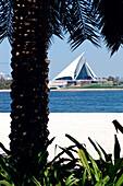 View at club house of Dubai Creek Golf and Yacht Club, Dubai, UAE, United Arab Emirates, Middle East, Asia