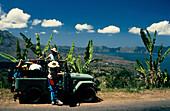 Jeep, Mount Batur, Lake Batur, Bali Indonesien
