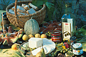 Tuscan specialities, Food, Tuscany, Italy, Europe