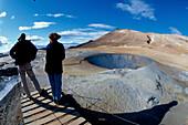Geothermisches Feld Namaskard, Suedlich des Myvatn Island