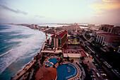 Blick auf Cancun vom Hyatt Regency, Quintana Roo Halbinsel Yucaton, Mexiko