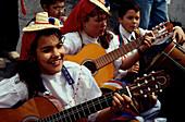 Folklore, Fest der Mandelbluete, Tejeda, Gran Canaria Kanarische Inseln, Spanien