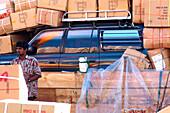 Freight on a Dhow, Dubai, UAE, VAE, Vereinigte Arabische Emirate, United Arab Emirates