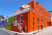 Colourful houses in Bo-Kaap, Cape Malay District, Cape Town, South Africa, Africa