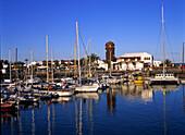 Hafen, Castillo, Caleta de Fustes, Fuereventura, Kanarische Inseln Spanien