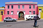 Colourful houses in the sunlight, Bo-Kaap, Cape Malay Quarter, Cape Town, South Africa, Africa