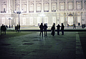 People in front of Palacio Real, Madrid, Spain