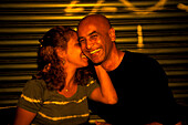 Couple, nightlife, raval, barcelona, spain