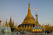 Shwedagon Pagoda, evening light, Yangon, Myanmar