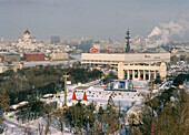 Panoramic view of Moscow and Gorki Park, Moscow, Russia