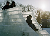 Ice slide in Gorki Park, Moscow Russia