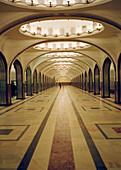 Mayakovskaya underground station, Moscow, Russia