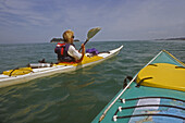 Sea kayaks, Abel Tasman NP, NZ, Seekajaks, popular walking, sea kayaking, South Island, Nationalpark