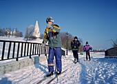 Skiing at Kolomenskoye, Moscow Russia