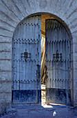 Opened gate, Mallorca, Spain, Europe