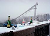 Empty bottles, Sparrow Hills Moscow