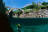 River Diving , Verzasca, Ticino Switzerland